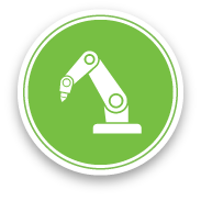 Automated Manufacturing Machine Icon